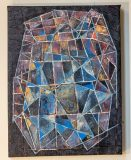 """Jeweled (shift perspective), oil on canvas, 18"""" x 24"""", 2020, $650"""