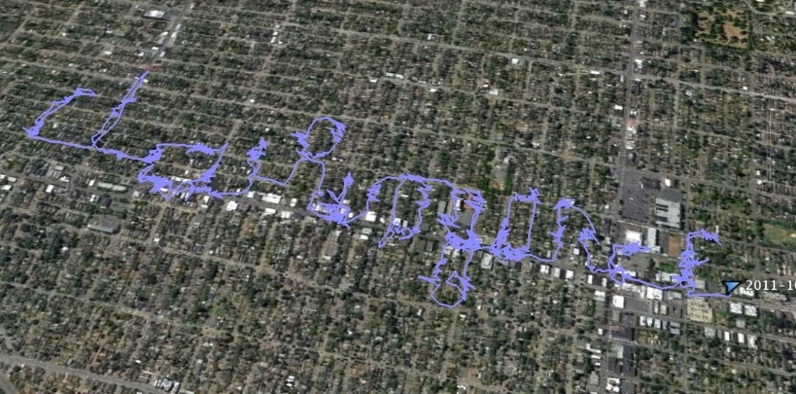 GPS data of walk through Greenwood neighborhood of Seattle
