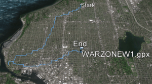warzone, w (part 1), 6.2 miles, walked after Dallas, July 8, 2016